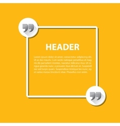 Quote sign icon Quotation mark vector