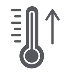 Raising temperature glyph icon weather and vector