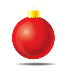 red christmas ball 01 vector image