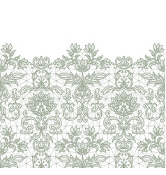 seamless green lace vector image