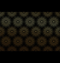 seamless sacred geometry seed life gold pattern vector image