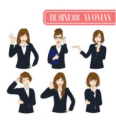 Set business woman vector