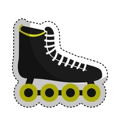 skate sport equipment icon vector image
