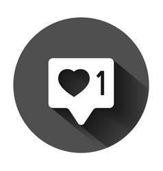 social media notification sign icon in flat style vector image