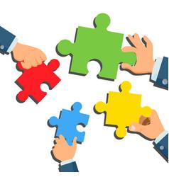 Solution concept businessman hands vector
