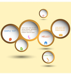 Stylish web design bubble vector image vector image