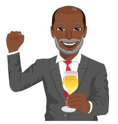 Successful mature african american businessman vector