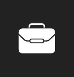 suitcase icon luggage in flat style vector image