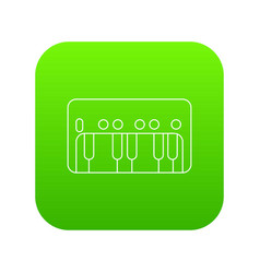 synthesizer piano icon green vector image