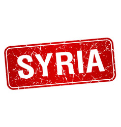 Syria red stamp isolated on white background vector