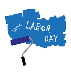 the inscription labor day vector image