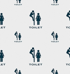 toilet icon sign Seamless pattern with geometric vector image