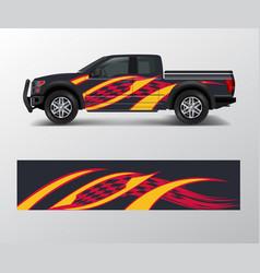 Truck and cargo van wrap car decal wrap design vector