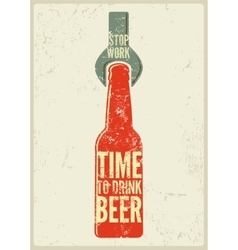 Typographic retro grunge beer poster vector