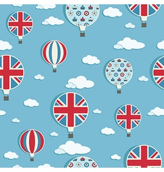 Uk hot air balloons vector