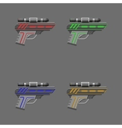 Video game weapon Pistols set vector image