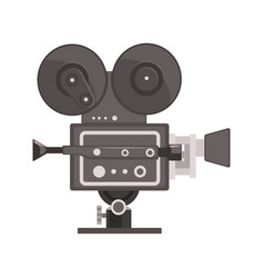 Vintage movie camera vector
