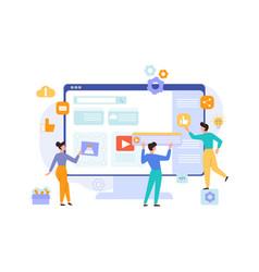 website development content concept programmers vector image