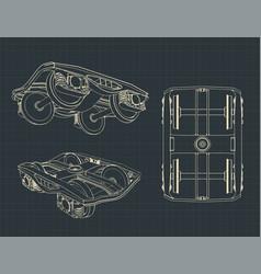 wheelbase a train car drawings vector image