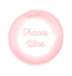 wine traces on a white background this stylish vector image