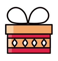 Wrapped gift box eid mubarak islamic religious vector