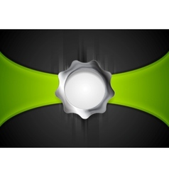 Abstract background with silver gear shape vector image