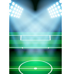 Background for posters night soccer football vector image vector image
