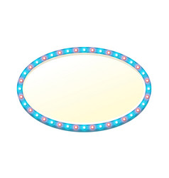 blank 3d oval light banner with shining lights vector image