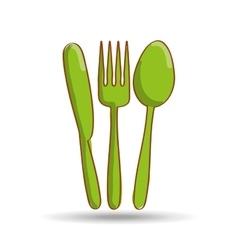cutlery set design vector image