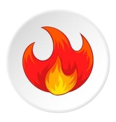 Fire icon cartoon style vector image vector image