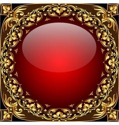 Gold Ornamental Frame Background vector image