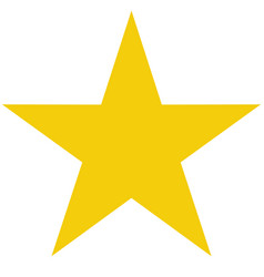 star icon on white background flat rank yellow vector image vector image