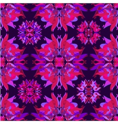 Floral kaleidoscope seamless pattern vector image