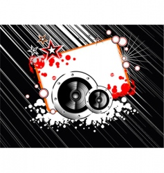 music abstract frame vector image vector image