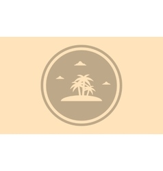 Silhouette of palm in islands landscape vector image