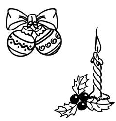 Christmas balls doodles vector image