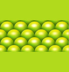 green scale sphere seamless pattern vector image vector image