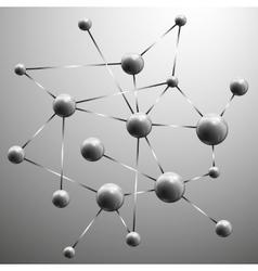 Molecule structure background vector