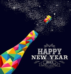 New year 2015 champagne bottle poster design vector image vector image