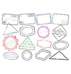 passport stamps vector image vector image