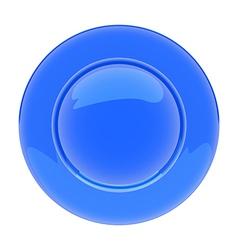 PlateBlue vector image vector image