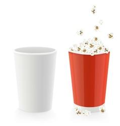 popcorn caps vector image vector image