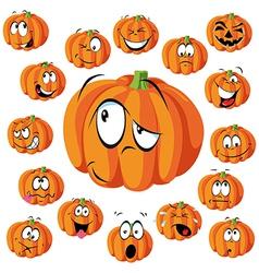 pumpkin cartoon vector image