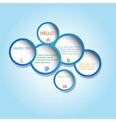 Trendy web design bubbles vector image vector image