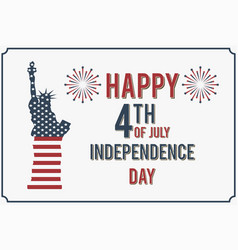 4th of july happy independence day of america vector image