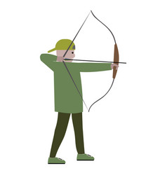 boy with bow archer vector image