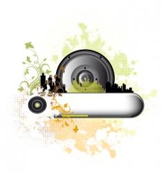 music grunge background vector image