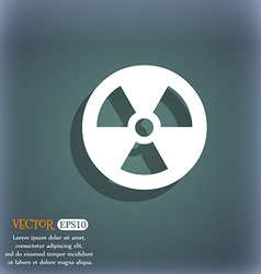 radiation icon symbol on the blue-green abstract vector image