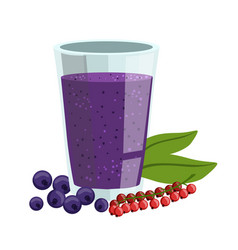 red currant and blueberry smoothie non-alcoholic vector image vector image