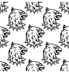 Seamless pattern with head of heraldic eagle vector image